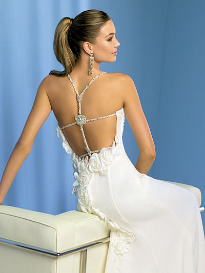 low cut back wedding dresses